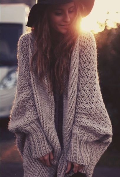 Girl with cozy sweater