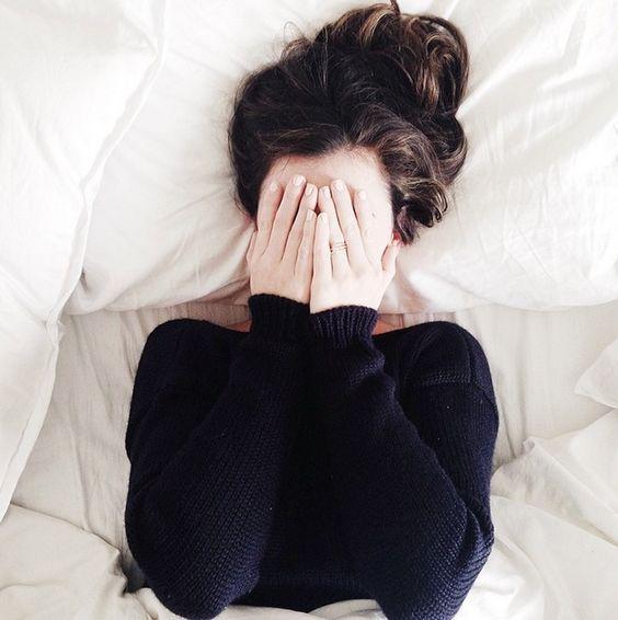 tired sweater girl