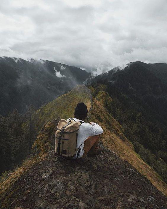Sitting on the peak