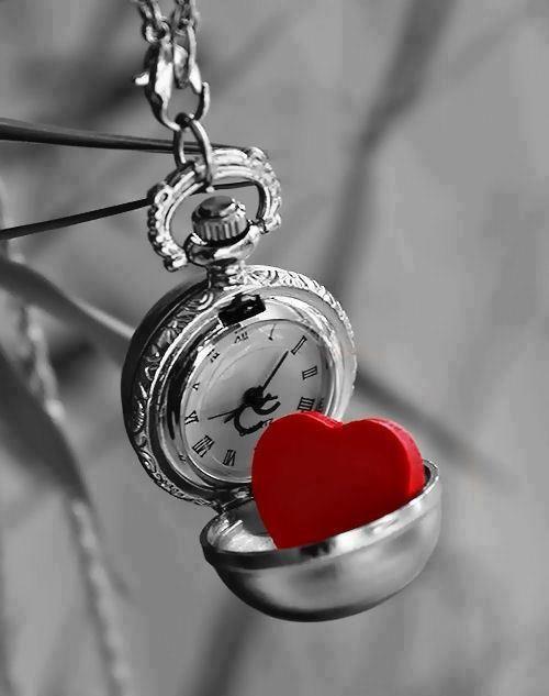 Heart in a clock