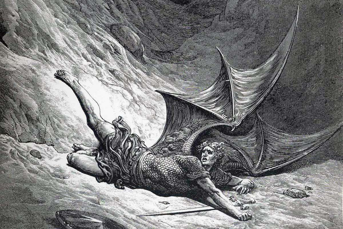 Satan fallen from grace